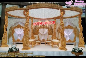 Classical Look Wooden Wedding Mandap
