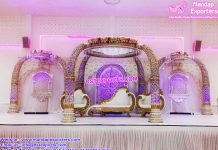 Elephant Teeth Style Wedding Mandap