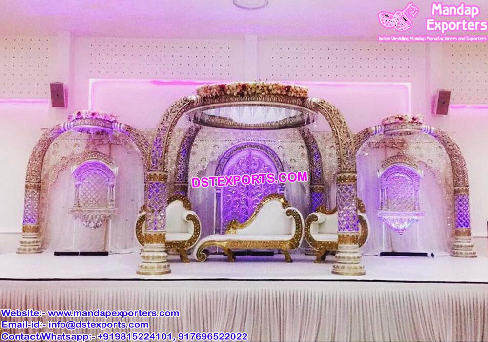 Elephant Teeth Style Wedding Mandap