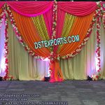 Glittering And Shiny Wedding Backdrops