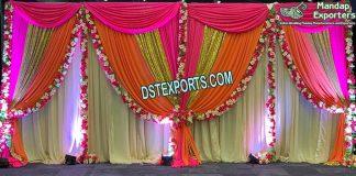 Glittering And Shiny Wedding Backdrops