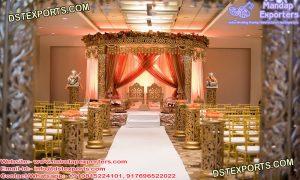 Golden Mandap For Prestigious Marriage
