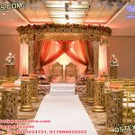 Golden Mandap For Prestigious Marriage