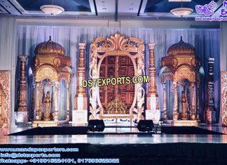 Indian Wedding Ancient Look Stage Set