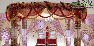 Indian Wedding Crystal Decorative Mandap