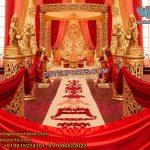 Indian Wedding Golden Fiber Mandap