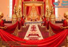 Indian Wedding Golden Fiber Mandap