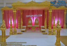 Marvelous Wedding Triple Pillars Mandap
