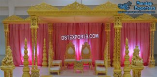 Marvelous Wedding Triple Pillars Mandap