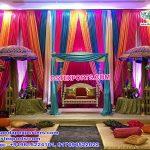 Mehndi Setup With Colorful Backdrops
