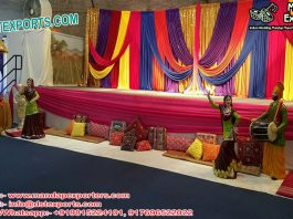 Punjabi Sangeet Stage Backdrop Decoration