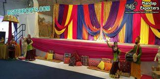 Punjabi Sangeet Stage Backdrop Decoration