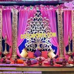 Spectacular Mehandi Ceremony Stage Flower Frames