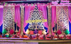 Spectacular Mehandi Ceremony Stage Flower Frames
