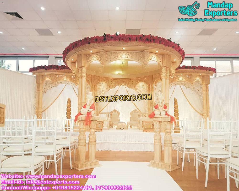 Stylish Wedding Double Pole Mandap