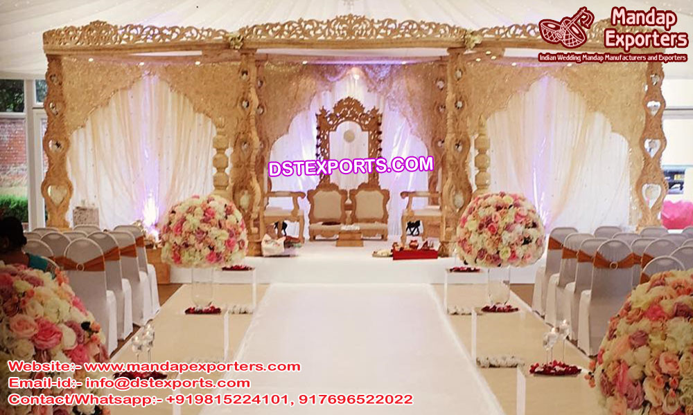 Top Wedding Event Wooden Mandap