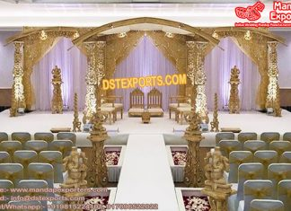 Trending Wooden Wedding Mandap
