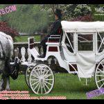 Wedding White Victorian Horse Carriage