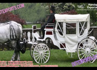 Wedding White Victorian Horse Carriage