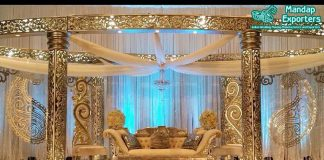 Classy Indian Wedding Oval Design Mandap