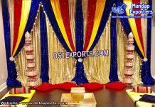 Beautiful Mehandi Stage Backdrop Curtains