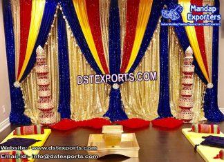 Beautiful Mehandi Stage Backdrop Curtains