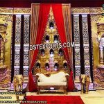 Beautiful Rajawada Wedding Golden Frames