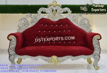 Beautiful Red and Silver Wedding Love-Seat