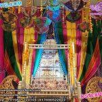 Beautiful Sangeet Stage Zari Backdrops