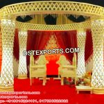 Dreamy Fiber Crystal Wedding Mandap