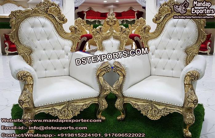 Fancy Bride And Groom Wedding Throne