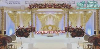 Grand Eight Pillars Wooden Wedding Mandap
