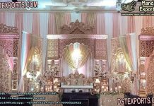Grand Wedding Rajawada Reception Stage