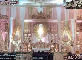 Grand Wedding Rajawada Reception Stage