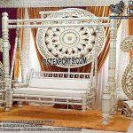 Indian Wedding White Wooden Jhulla