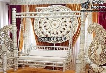 Indian Wedding White Wooden Jhulla