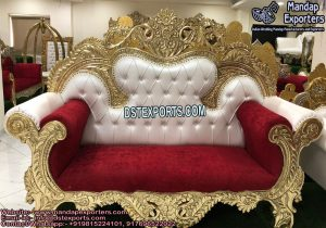 Muslim Maharaja Wedding Stage Sofa