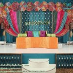 New Mehandi Stage Setup With Candle Wall