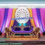 Punjabi Mehandi Sangeet Ceremony Stage