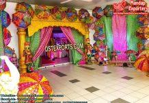 Rajasthani Theme Sangeet Stage Setup