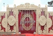 Rajawada Style Stage Decoration Frame Setup