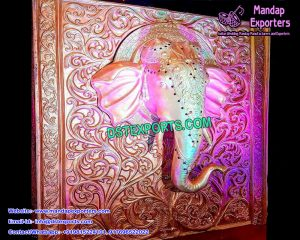 South Indian Entrance Elephant Panel