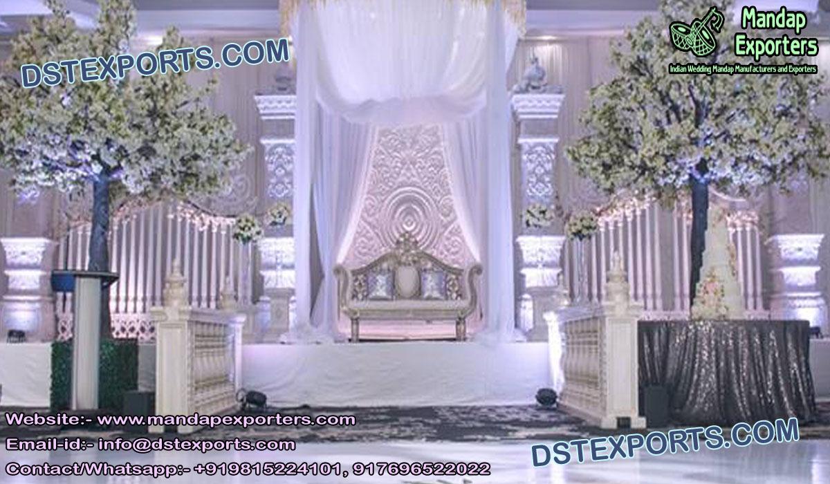 Stunning Indo-Canadian Wedding Stage Decoration