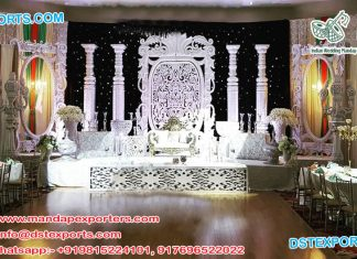 Trendy English Wedding Stage Decoration