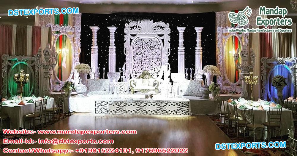 Trendy English Wedding Stage Decoration
