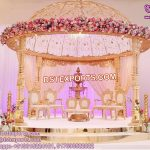 Unique Marriage Golden Mandap With Dom