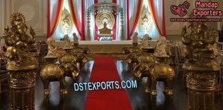 Wedding Aisleway Elephant with Ganesha Statue