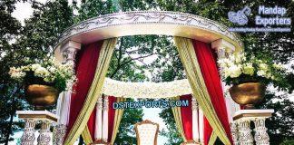Wedding Double Pole Fiber Mandap