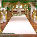 Wedding Golden Fiber Carved Walkway Pillars