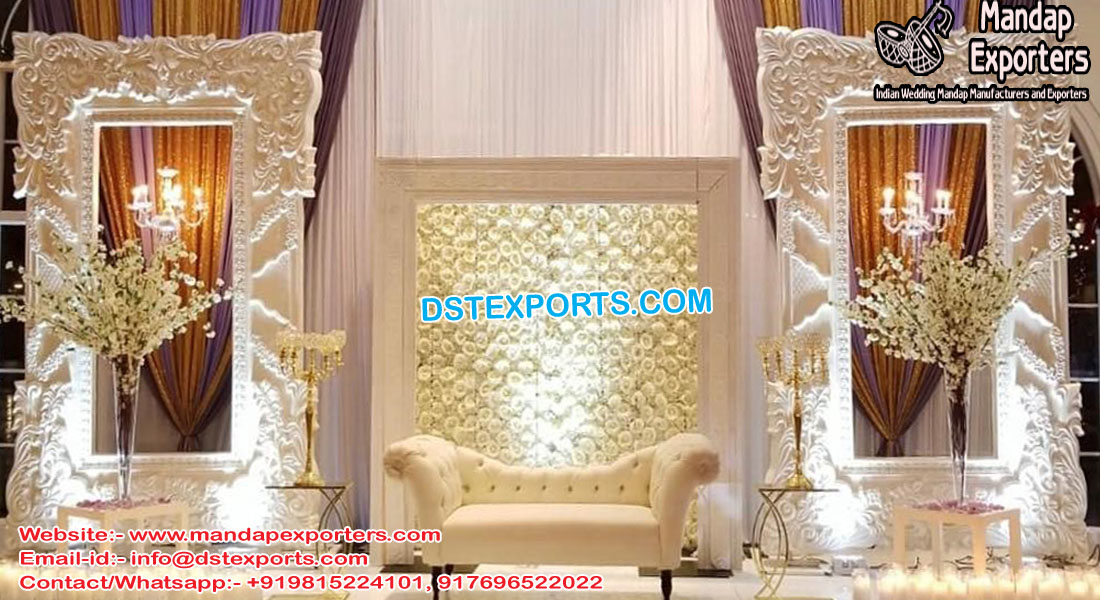 Modern Wedding Stage Fiber Back-walls